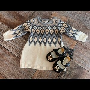 Nwt Gymboree girls sweater dress and BEBE shoes